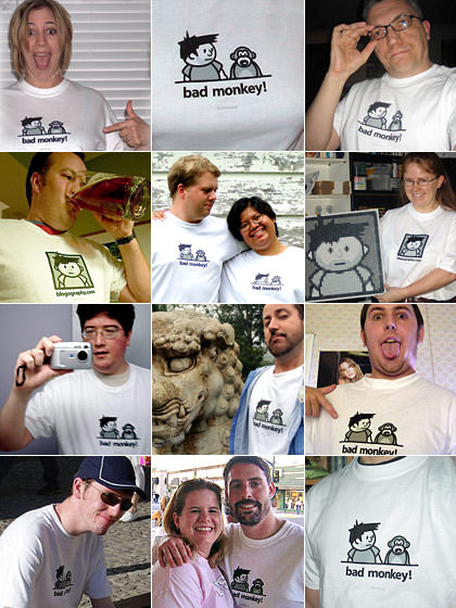 Bad Monkey Blogography Shirts!