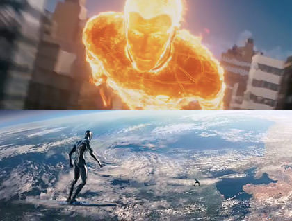 Silver Surfer and Human Torch