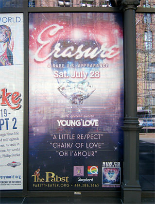 Erasure at the Pabst