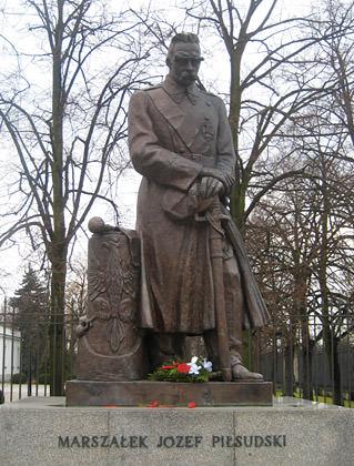 Pilsudski Statue Warsaw