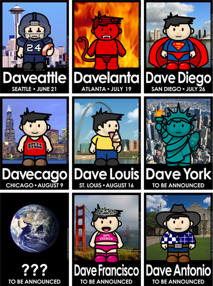 DAVETOON! Dave Event Posters