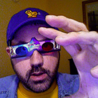 Dave rocking a pair of Hannah Montana 3-D glasses hotness!