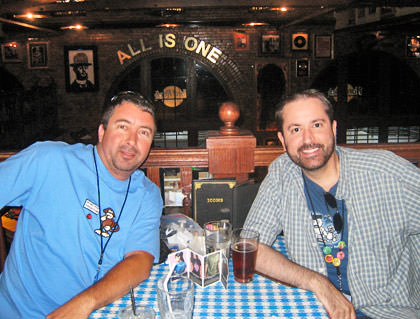 Dave and Marty at the Hard Rock Cafe.