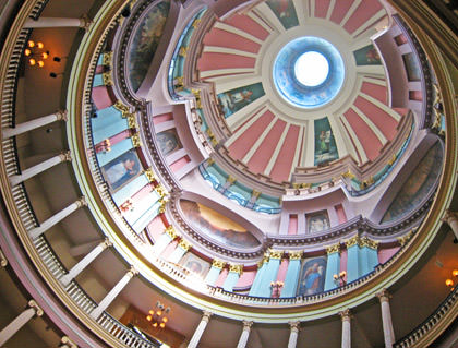Interior of the Old Courthouse Dome.
