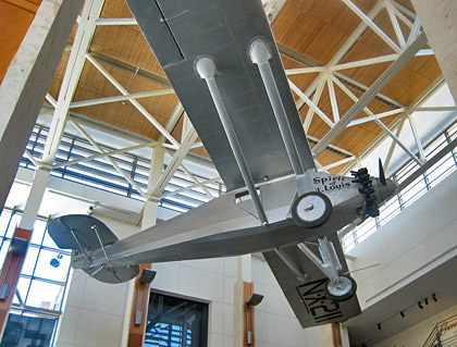 Spirit of St. Louis at the Museum of Missouri History