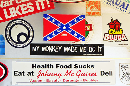 "Bubba's ""My Monkey Made Me Do It"" Sticker"