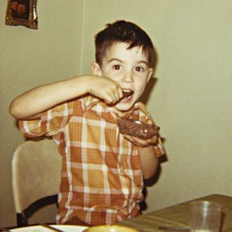 Young Davy Eats Chocolate Pudding
