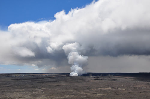 Kilauea Venting Vog