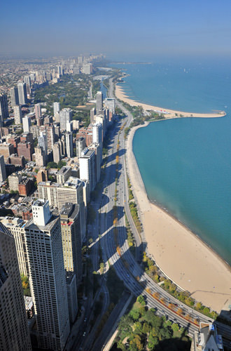View of North Chicago from Hancock Tower