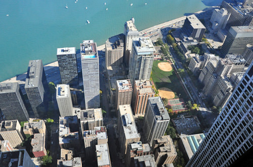 View of East Chicago from Hancock Tower