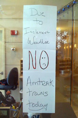 Closed Amtrak