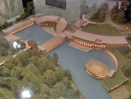 Scale model of the Crystal Bridges Museum