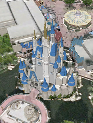 Google Earth Cinderella's Castle