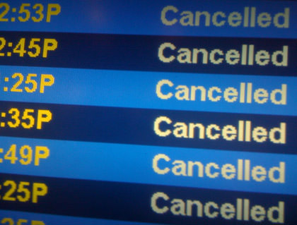 Airport Flight Board All Canceled