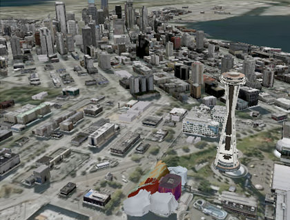 Google Earth Seattle 3-D
