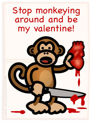 Bad Monkey with a bloody human heart.