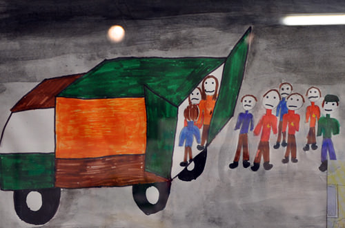 Child's Concentration Camp Drawing