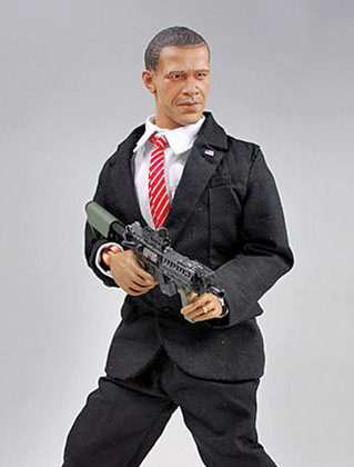 Obama Action Figure: MACHINE GUN!!