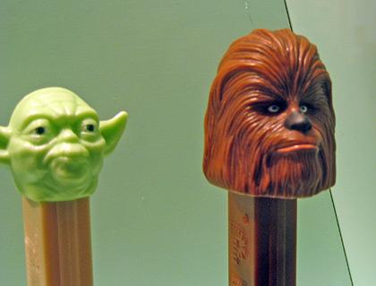 Yoda and Chewbacca PEZ