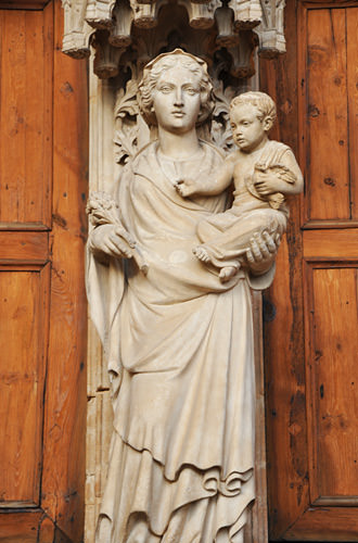 Cathedral Statue of Mary and Jesus