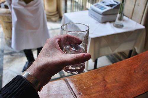 Bath Water Glass