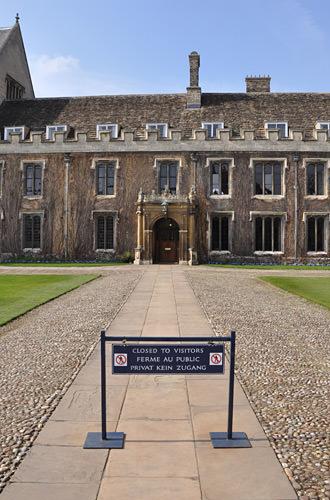 Trinity College: No Tourists!