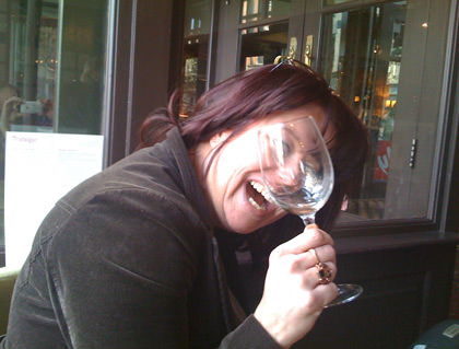 Dutchy wonders where her wine went.