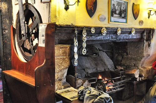 The George Dog Wheel and Fireplace