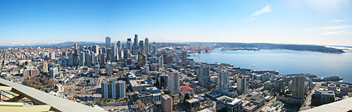 Seattle Panorama Photo from the Space Needle