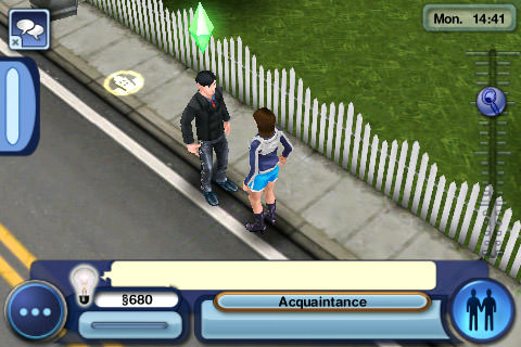 Sims3: Sim Dave Has a Chat