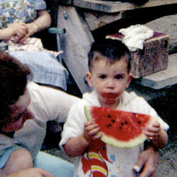 Baby Dave with Watermelon