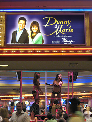 Donny and Marie Play with Pole Dancers