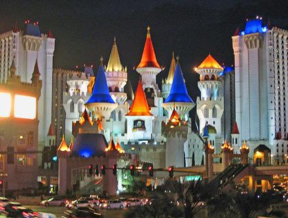 Excalibur Hotel Vegas at Night