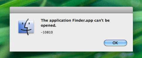 The Finder Can't Be Opened!