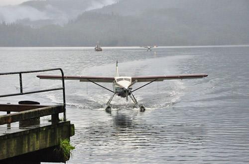 Float Plane Landing in Neets Bay