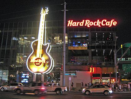 Hard Rock Cafe on The Vegas Strip