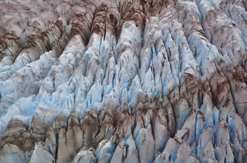 Blue Mendenhall Ice Cracks