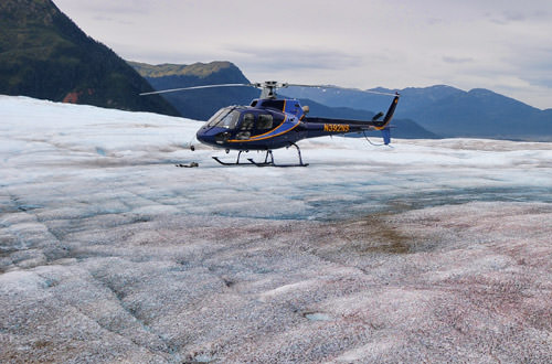 Helicopter on the Glacier