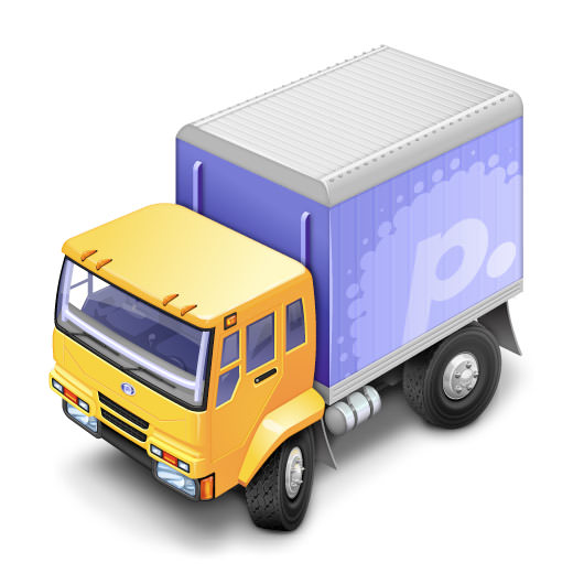 Transmit's little truck icon at full-size
