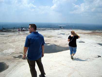 On top of Stone Mountain