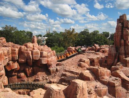 Walt Disney World Big Thunder Mountain Railroad Rollercoaster