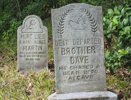 Tombstones at Walt Disney World's Haunted Mansion