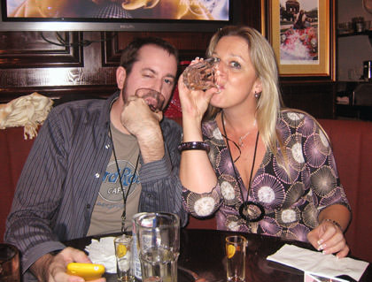 Dave and Penelope Drinking Jager
