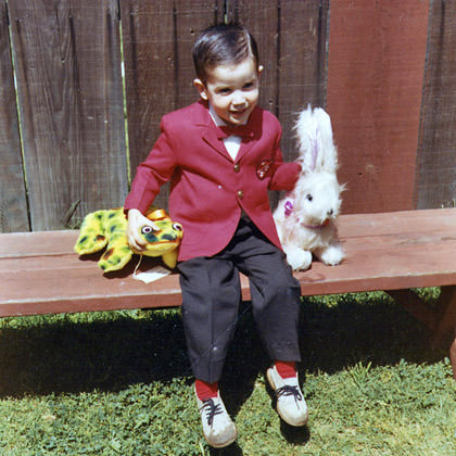 Dave in a Red Suit Jacket