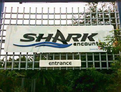 Shark Encounter Sign