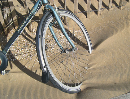 Bicycle Tire Stuck in the Sand