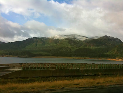 SNOW IN THE MOUNTAINS!