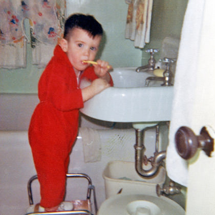 Lil' Dave Brushes His Teeth