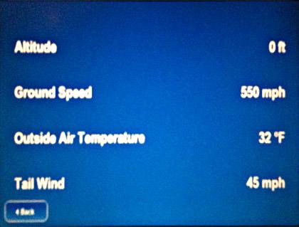 Flight Stats Showing Us Flying at 0 Feet!