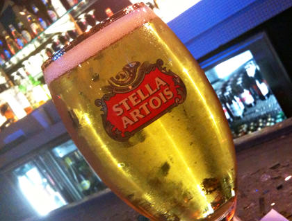 It's a Stella Beer on the Bar!